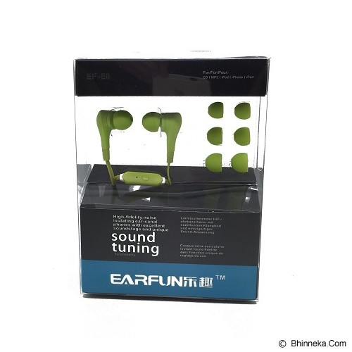 EARFUN Earphone Fashionable Colorful [EF-E8] - Green - Earphone Ear Monitor / Iem