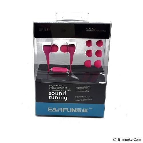 EARFUN Earphone Fashionable Colorful [EF-E8] - Pink - Earphone Ear Monitor / Iem