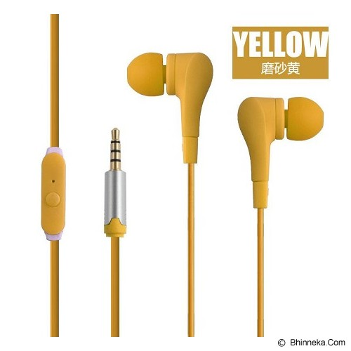 EARFUN Earphone Fashionable Colorful [EF-E8] - Yellow - Earphone Ear Monitor / Iem