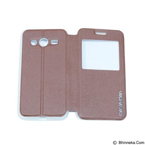 EASYBEAR Flipcover Case View for Samsung Galaxy Core 2 G355 - Brown (Merchant) - Casing Handphone / Case