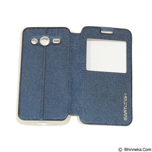 EASYBEAR Flipcover Case View for Samsung Galaxy Core 2 G355 - Dark Blue (Merchant) - Casing Handphone / Case
