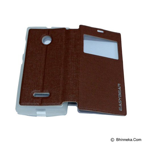 EASYBEAR Flipcover/Flipshell/Casing for Microsoft Lumia N435 View - Brown (Merchant) - Casing Handphone / Case