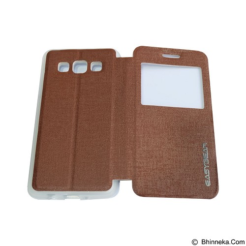 EASYBEAR Flipcover/Flipshell/Casing for Samsung Galaxy A300F/A3 View - Brown (Merchant) - Casing Handphone / Case