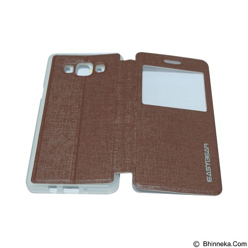 EASYBEAR Flipcover/Flipshell/Casing for Samsung Galaxy A500F/A5 View - Brown (Merchant) - Casing Handphone / Case