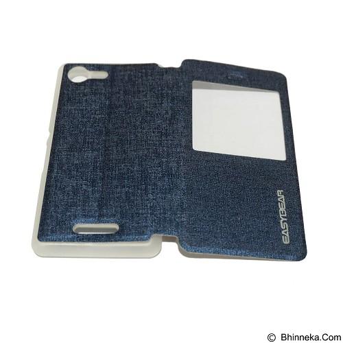 EASYBEAR Flipcover/Flipshell/Casing for Sony Xperia E3 - Dark Blue (Merchant) - Casing Handphone / Case