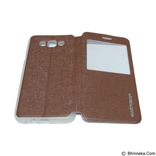 EASYBEAR Flipcover/Flipshell/Casing for Samsung Galaxy E700/E7 View - Brown (Merchant) - Casing Handphone / Case