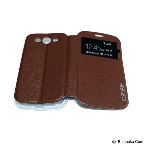 EASYBEAR Flipcover/Flipshell/Casing for Samsung Galaxy i9082 View - Brown (Merchant) - Casing Handphone / Case