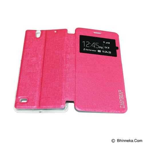 EASYBEAR Flipcover/Flipshell/Casing for Sony Xperia C4 - Pink (Merchant) - Casing Handphone / Case