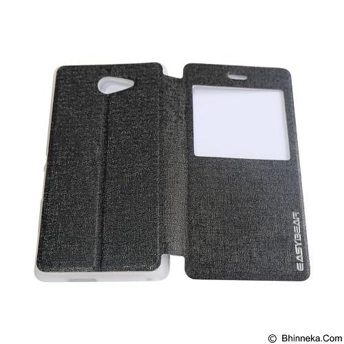 EASYBEAR Flipcover/Flipshell/Casing for Sony Xperia M2 View - Black (Merchant) - Casing Handphone / Case