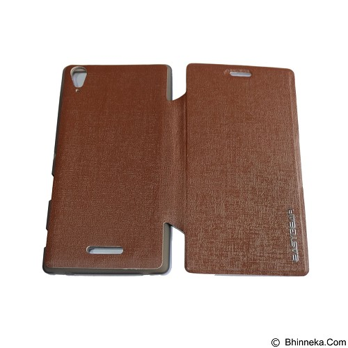 EASYBEAR Flipcover/Flipshell/Casing for Sony Xperia T3 - Brown (Merchant) - Casing Handphone / Case