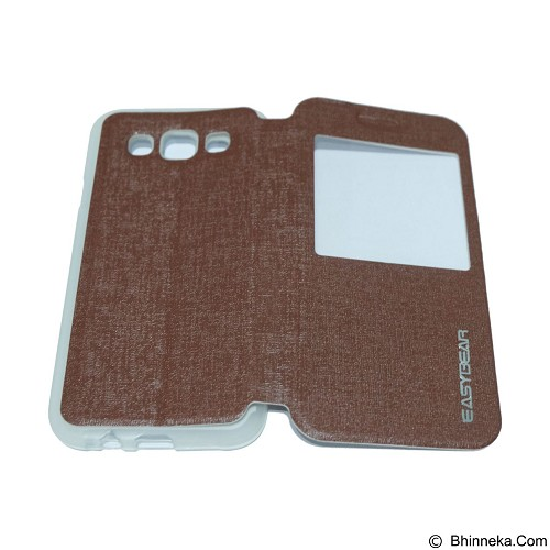 EASYBEAR Flipcover/Flipshell/Casing for Samsung Galaxy E500/E5 View - Brown (Merchant) - Casing Handphone / Case