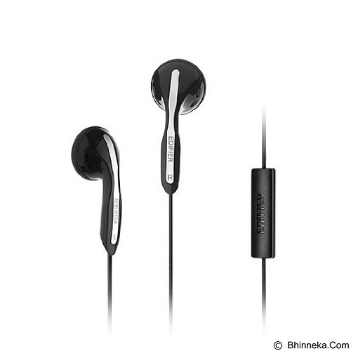 EDIFIER Earphone [H180P] - Black - Earphone Ear Monitor / Iem