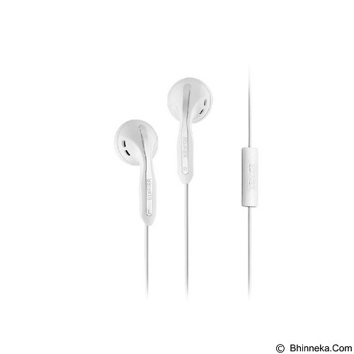 EDIFIER Earphone with Microphone [H180P] - White (Merchant) - Earphone Ear Bud