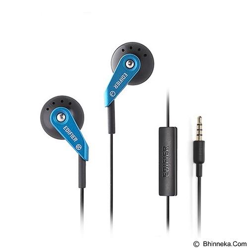 EDIFIER Earphone with Microphone [H185P] - Blue (Merchant) - Earphone Ear Bud