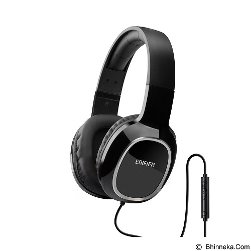 EDIFIER Headphone M815 with Mic & Volume Control [EDI-HEAD-M815-BK] - Black (Merchant) - Headphone Portable