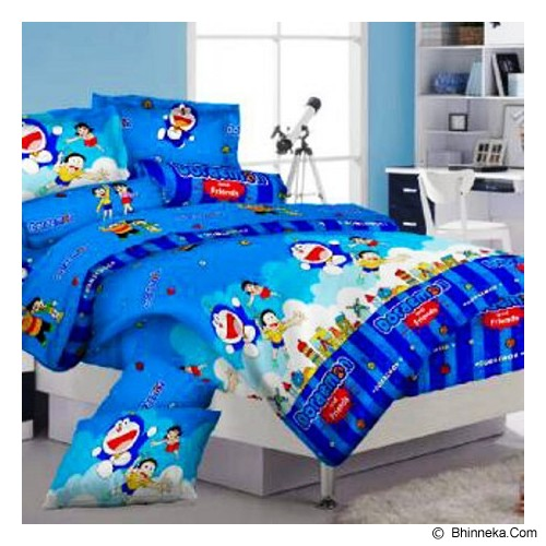 ELLENOV SPREI BAHAN KATUN Doraemon and Friends Extra Single Size - Seprai & Handuk