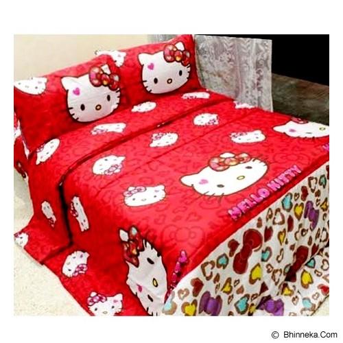 ELLENOV SPREI BAHAN KATUN Kitty Leopard Single Size - Red - Seprai & Handuk