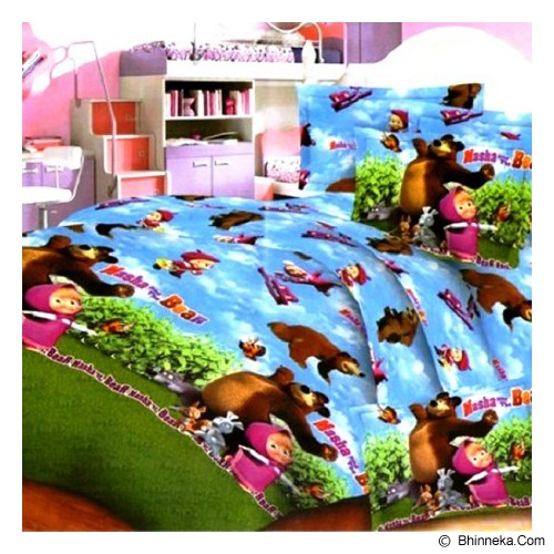 ELLENOV SPREI BAHAN KATUN Masha and The Bear Extra King Size - Seprai & Handuk