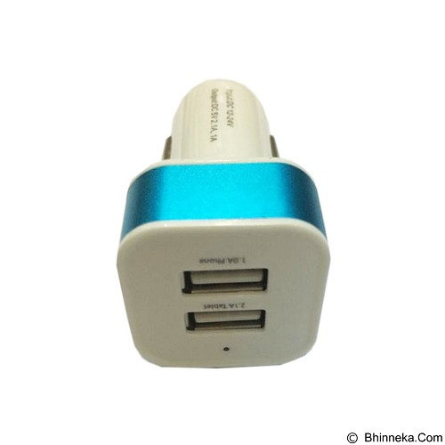 EMPIRE Car Charger USB 2in1 - Blue (Merchant) - Car Kit / Charger