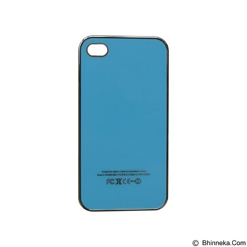 EMPIRE Hardcase Metalic Glossy Apple iPhone 4G/4s - Blue (Merchant) - Casing Handphone / Case