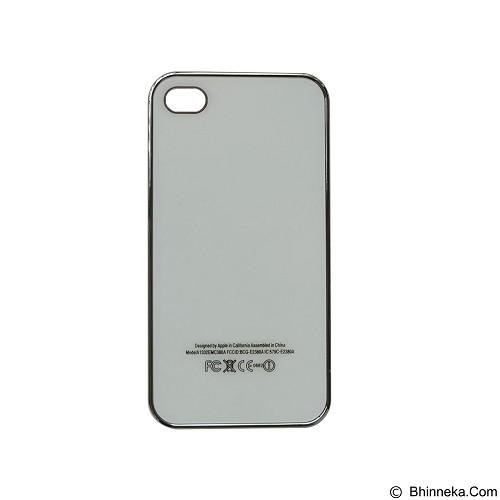 EMPIRE Hardcase Metalic Glossy Apple iPhone 4G/4s - White (Merchant) - Casing Handphone / Case