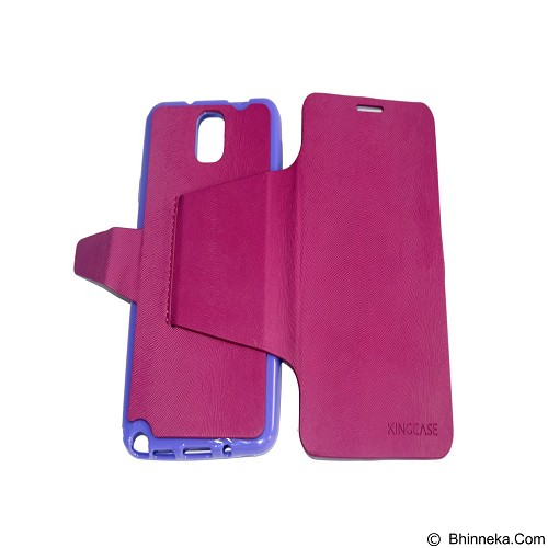 EMPIRE Kingcase Leather Flipshell Casing for Samsung Galaxy Note 3 N9005 - Purple (Merchant) - Casing Handphone / Case