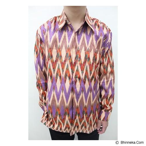 ENAM SAUDARA Batik Halus Lengan Panjang Size S [RA001] - Purple (V) - Kemeja Lengan Panjang Pria
