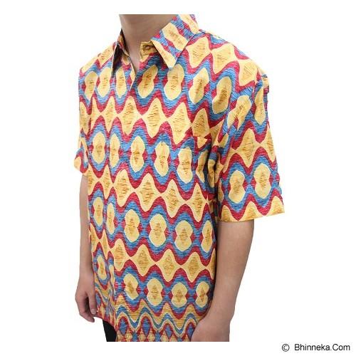 ENAM SAUDARA Batik Halus Unik Size L [ES005] - Yellow (V) - Kemeja Lengan Pendek Pria