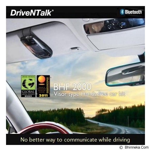 ENUSTECH DriveNTalk Smart Hands Free Car Kit/Visor Type [BHF2000] - Black - Speaker Bluetooth & Wireless