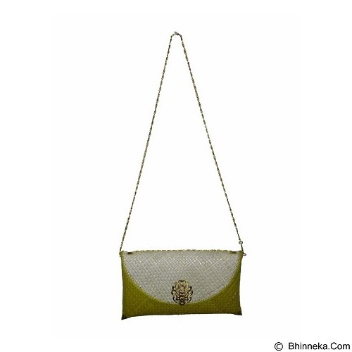 ENYES SHOP Sling Bag Anyaman Kecil [ENY35011] - Yellow - Clutches & Wristlets Wanita