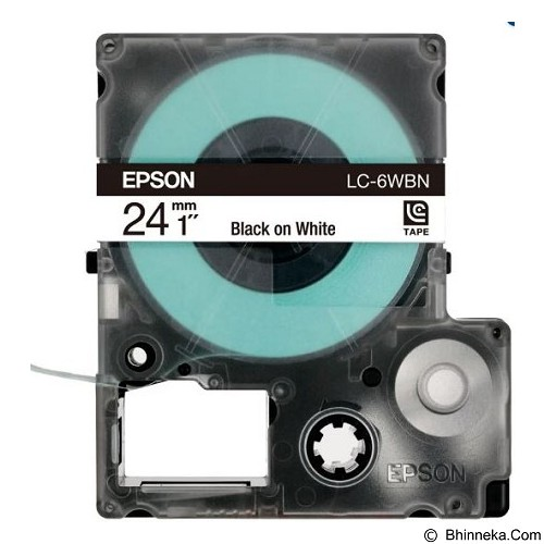 EPSON Label Tape Catridge White on Black [LC-6BWV] (Merchant) - Pita & Label Printer Epson