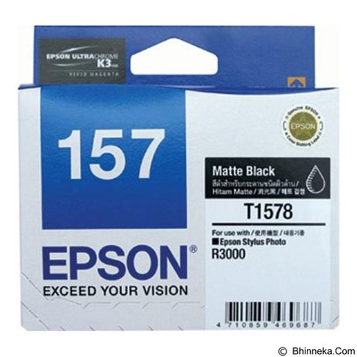EPSON Matte Black Ink Cartridge [C13T157890] - Tinta Printer Epson