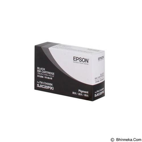 EPSON SJIC20P(K)-490 Black Ink Cartridge [C33S020490] - Tinta Printer Epson