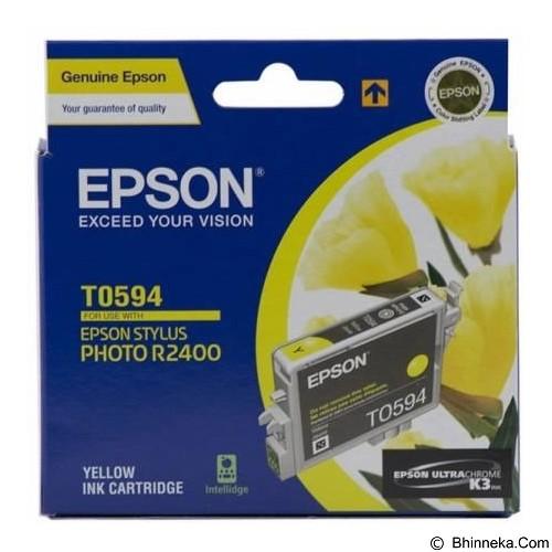 EPSON Yellow Ink Cartridge [C13T059490] - Tinta Printer Epson