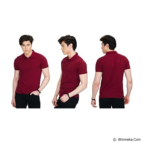 ERDUA CLOTHING Polo Shirt Size XL - Merah Marun