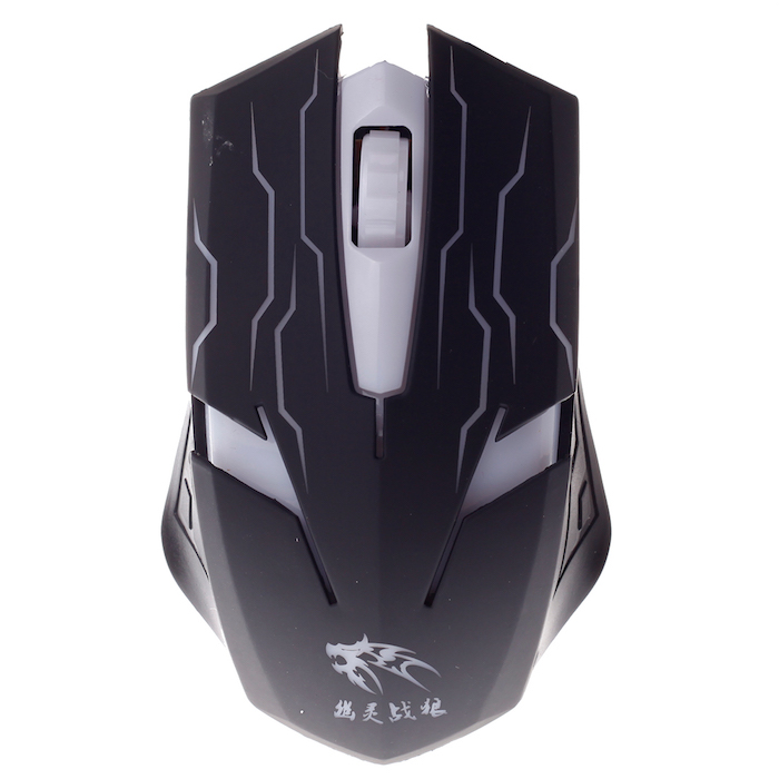 EXCLUSIVE IMPORTS MMSM Optical Wired Mouse with Lighting Display [A05020001740601] - Black - Gaming Mouse