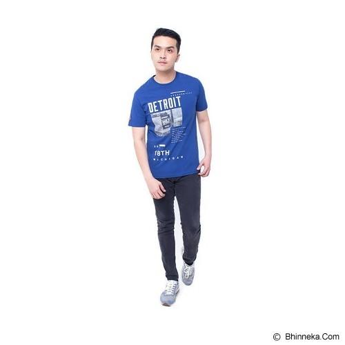 F&P T Shirt Detroit Size L [007-TS.002] - Blue - Kaos Pria