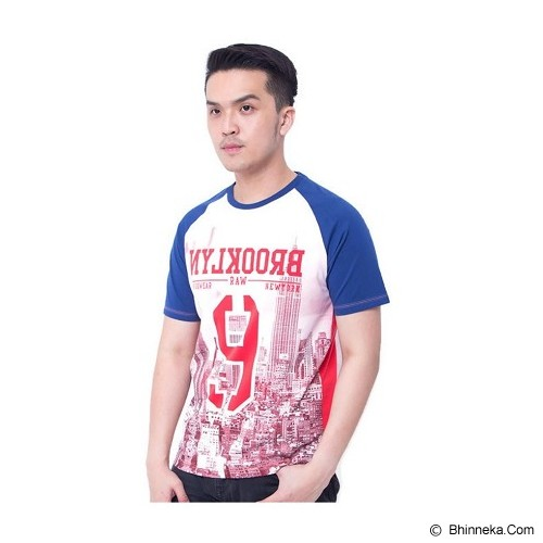 F&P T Shirt Brooklyn Raglan Size M [007-TS.005] - Blue Red - Kaos Pria