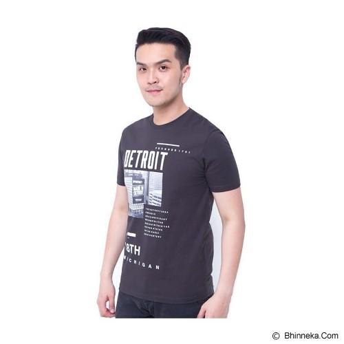 F&P T Shirt Detroit Size S [007-TS.002] - Charcoal - Kaos Pria
