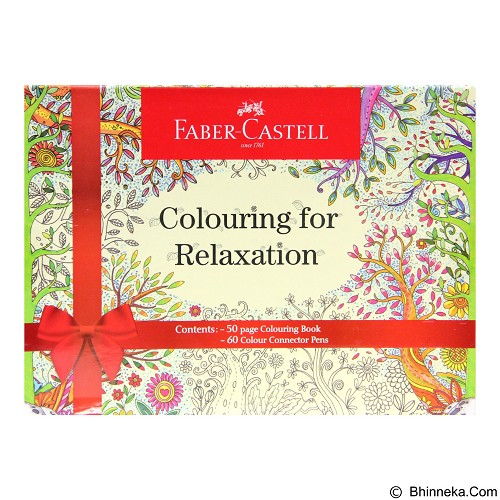 FABER-CASTELL Colouring For Relaxation + Connector Pen 60 - Buku Gambar