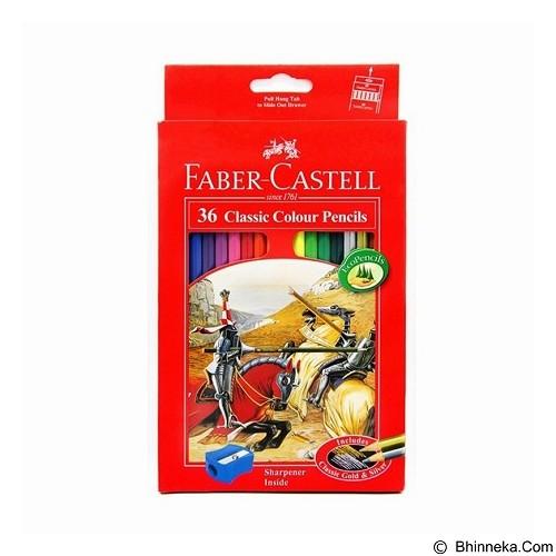 FABER-CASTELL Classic Colour Pencils Long 36 Warna (Merchant) - Pensil Warna