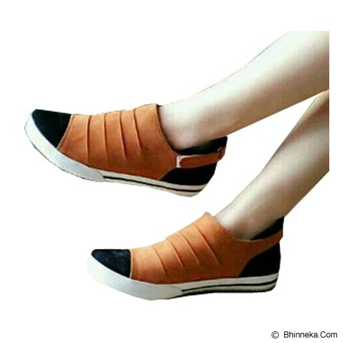 FABIAN ZIAH SHOP Flat Shoes Size 38 [PT 01] - Tan - Flats Wanita