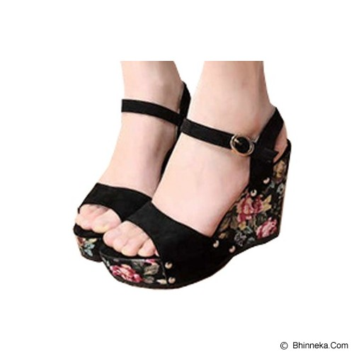 FABIAN ZIAH SHOP Wedges Bunga Size 38 [On 01] - Wedges Wanita