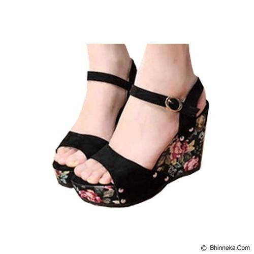 FABIAN ZIAH SHOP Wedges Bunga Size 38 [On 01] - Wedges Wanita
