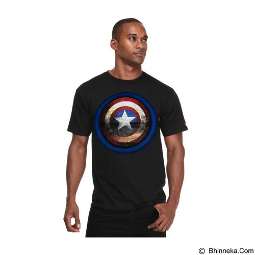 FANTASIA T-Shirt Pria The Origin Of Captain America Size M [FTSPTOOCAH] - Black (Merchant) - Kaos Pria