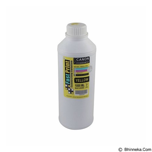 FASTPRINT Dye Based Anti UV Canon 1000ml - Yellow - Tinta Printer Refill