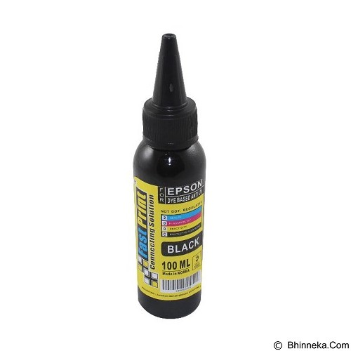 FASTPRINT Dye Based Anti UV Epson 100ml - Black - Tinta Printer Refill