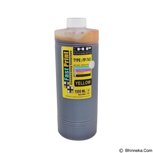 FASTPRINT Dye Based Anti UV HP 1000ml - Yellow - Tinta Printer Refill