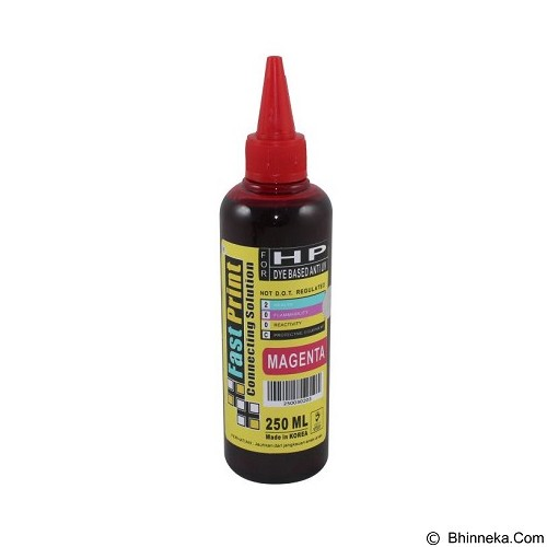 FASTPRINT Dye Based Anti UV HP 250ml - Magenta - Tinta Printer Refill