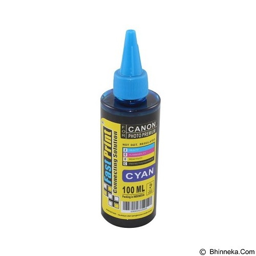 FASTPRINT Dye Based Photo Premium Canon 100ml - Cyan - Tinta Printer Refill